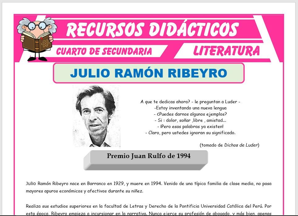 Ficha de Julio Ramón Ribeyro y Alfredo Bryce Echenique para Cuarto de Secundaria