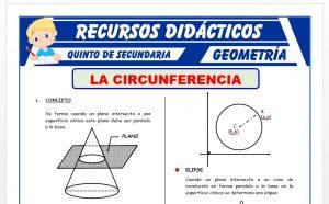 Ficha de La Circunferencia - Geometría Analítica para Quinto Grado de Secundaria