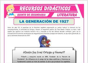 Ficha de La Generación de 1927 para Quinto de Secundaria