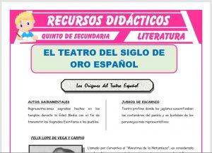 Ficha de La Narrativa del Siglo de Oro Español para Quinto de Secundaria