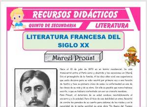 Ficha de Literatura Francesa del Siglo XX para Quinto de Secundaria