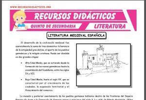 Ficha de Literatura Medieval Española para Quinto de Secundaria