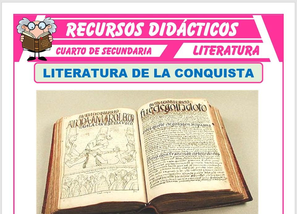 Ficha de Literatura de la Conquista para Cuarto de Secundaria