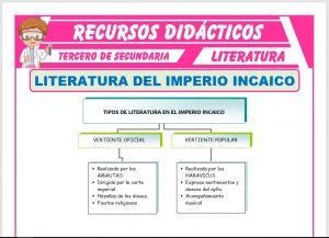 Ficha de Literatura del Imperio Incaico para Tercero de Secundaria