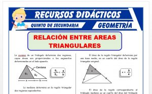 Ficha de Relaciones de Áreas de Regiones Triangulares para Quinto Grado de Secundaria