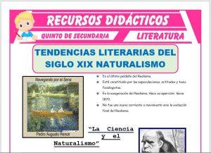 Ficha de Tendencias Literarias del Siglo XIX para Quinto de Secundaria