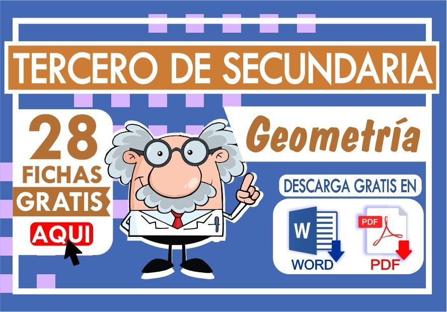 Ejercicios de Geometria para Tercer Grado de Secundaria