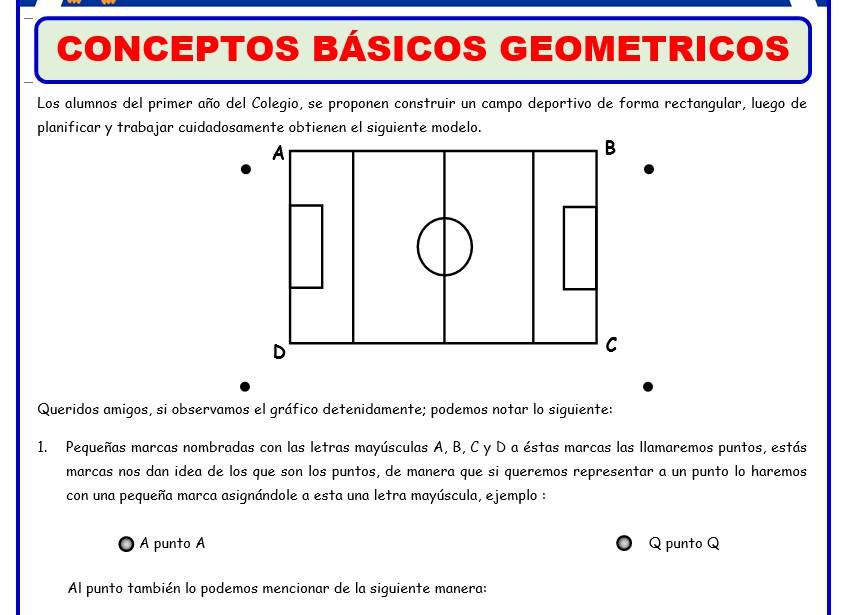 Teoria y formulas de Geometria para Primer Grado de Secundaria