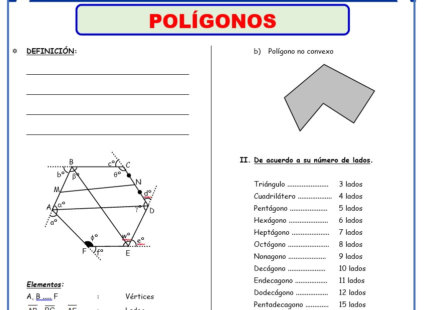 Formulas de Geometria para Quinto Grado de Secundaria