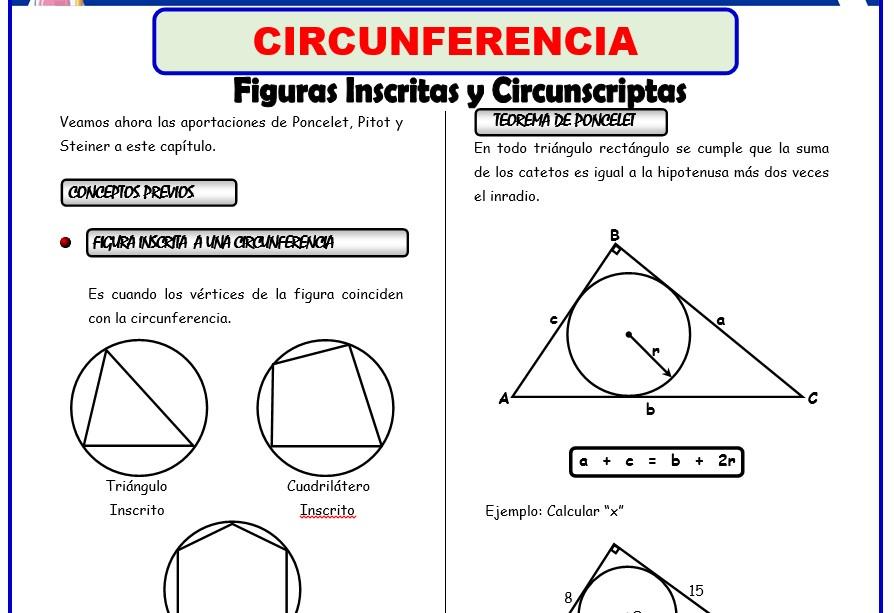 Formulas de Geometria para Tercer Grado de Secundaria
