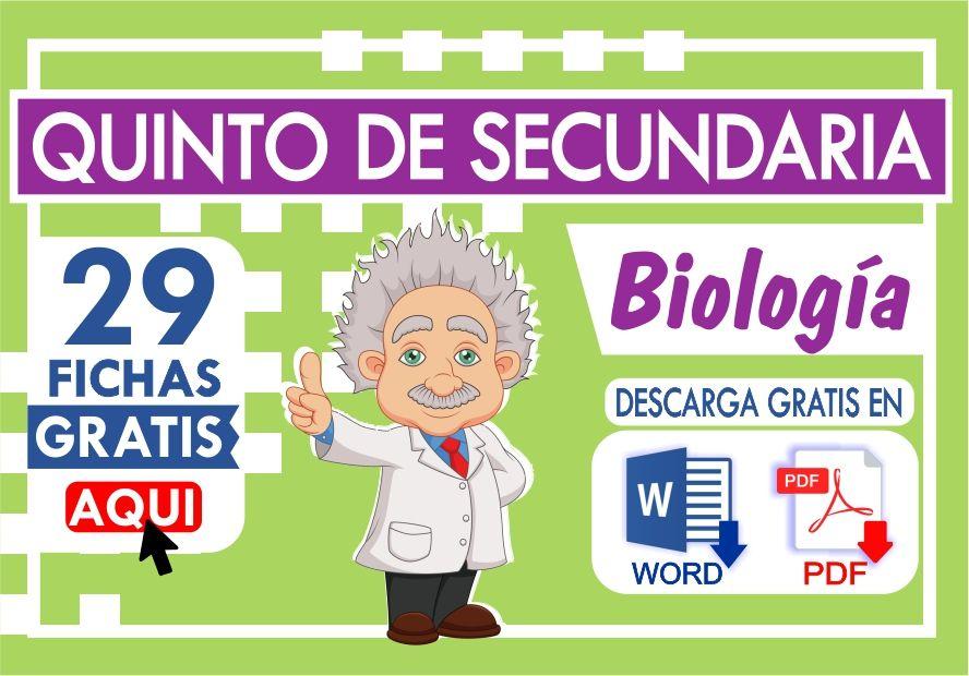 Actividades de Biologia para Quinto Grado de Secundaria
