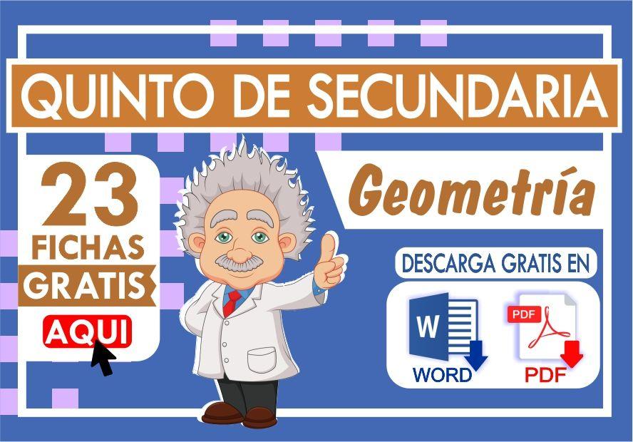 Ejercicios de Geometria para Quinto Grado de Secundaria