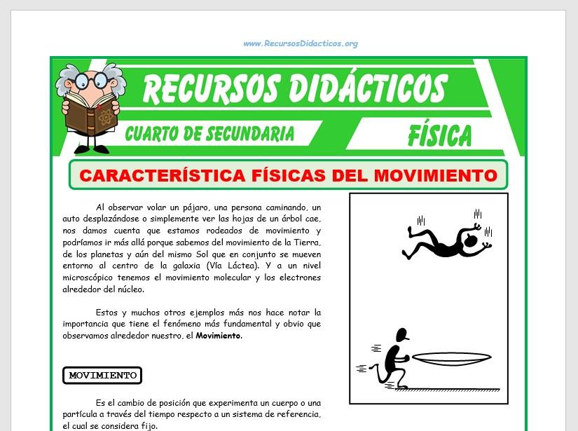 Ficha de Características Físicas del Movimiento para Cuarto de Secundaria