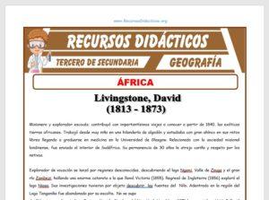 Ficha de África para Tercero de Secundaria