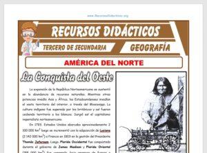 Ficha de América del Norte para Tercero de Secundaria