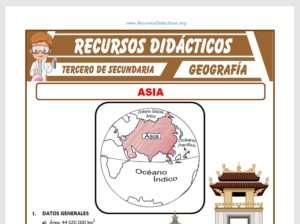 Ficha de Asia para Tercero de Secundaria