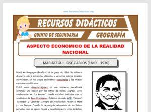 Ficha de Aspecto Económico del Perú para Quinto de Secundaria