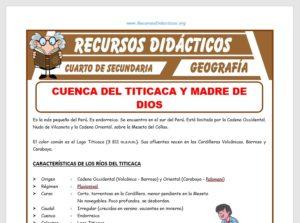 Ficha de Cuenca del Titicaca o Madre de Dios para Cuarto de Secundaria