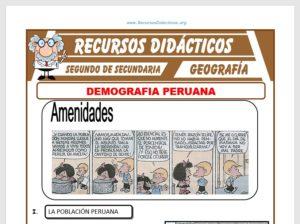 Ficha de Demografía Peruana para Segundo de Secundaria