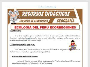 Ficha de Ecorregiones del Perú para Segundo de Secundaria