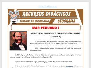 Ficha de El Mar Peruano I para Segundo de Secundaria