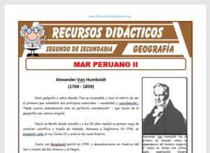 Ficha de El Mar Peruano II para Segundo de Secundaria