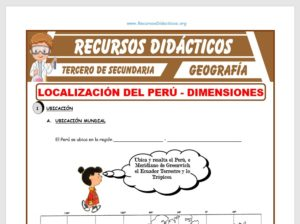 Ficha de El Perú y su Localización para Tercero de Secundaria