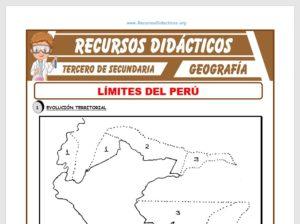Modelo de la Ficha de El Perú y sus Límites para Tercero de Secundaria