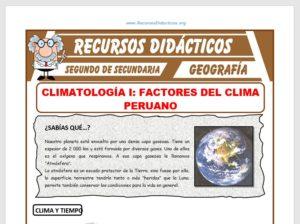 Factores del Clima Peruano para Segundo de Secundaria