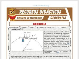 Ficha de Geodesia para Primero de Secundaria