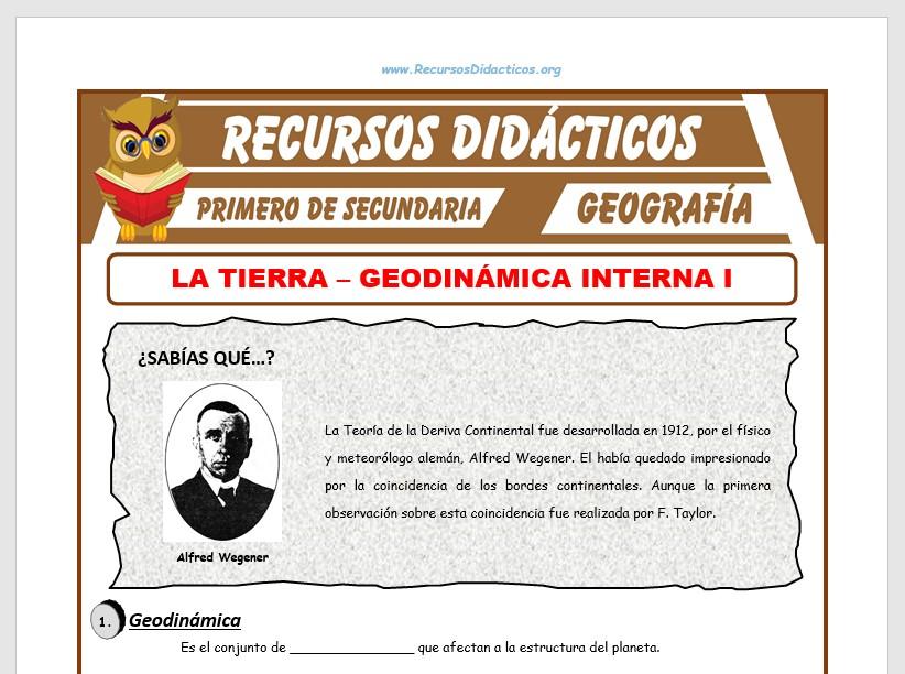 Ficha de Geodinámica para Primero de Secundaria