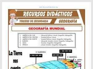 Ficha de Geografía Mundial para Tercero de Secundaria
