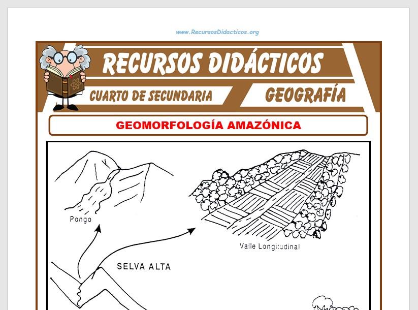 Ficha de Geomorfología Amazónica para Cuarto de Secundaria