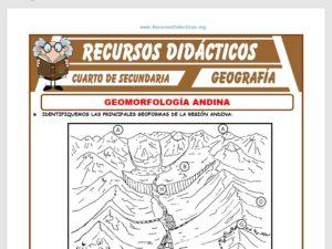 Ficha de Geomorfología Andina para Cuarto de Secundaria