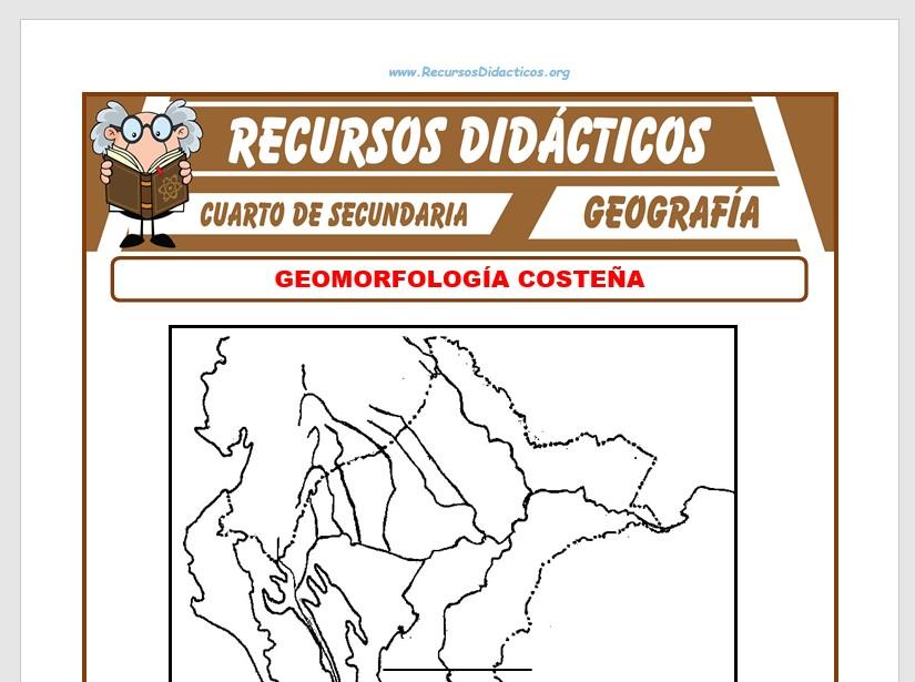 Ficha de Geomorfología Costeña para Cuarto de Secundaria