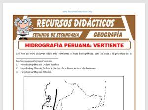 Ficha de Hidrografía Peruana para Segundo de Secundaria