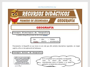 Ficha de Introducción a la Geografía para Primero de Secundaria