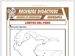 Ficha de Límites del Perú para Segundo de Secundaria