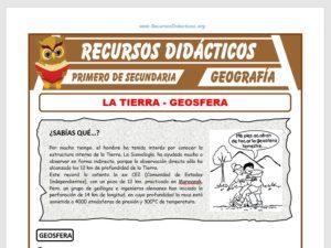 Ficha de La Geosfera para Primero de Secundaria