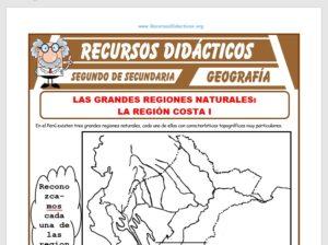 Ficha de División Política del Perú para Segundo de Secundaria