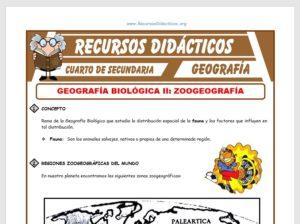 Ficha de La Zoogeografía para Cuarto de Secundaria