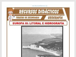 Ficha de Litoral e Hidrografía de Europa para Tercero de Secundaria