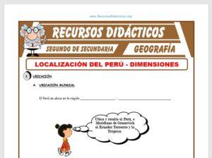 Ficha de Localización del Perú para Segundo de Secundaria