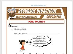 Ficha de Perú Político para Cuarto de Secundaria