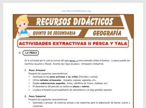 Ficha de Pesca y Tala para Quinto de Secundaria