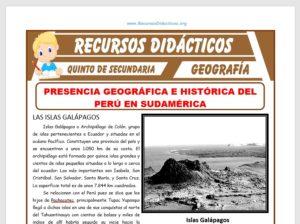 Ficha de Presencia Geográfica e Histórica del Perú en Sudamérica para Quinto de Secundaria