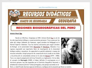 Regiones Biogeográficas del Perú para Cuarto de Secundaria