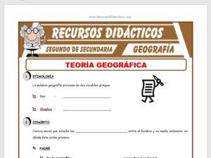 Ficha de Teoría Geográfica para Segundo de Secundaria