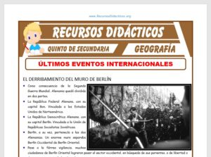 Ficha de Últimos Eventos Internacionales para Quinto de Secundaria
