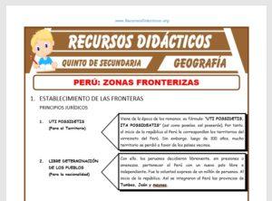 Ficha de Zonas Fronterizas del Perú para Quinto de Secundaria